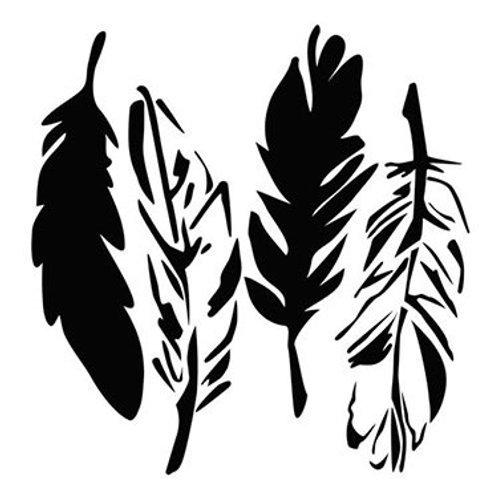 """TCW - 12x12 -  """"4 Feathers"""""""