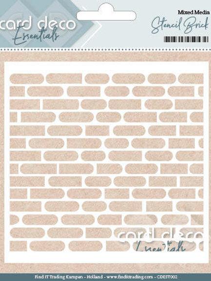Card Deco Essentials - Stencil Brick Wall 5'x5'