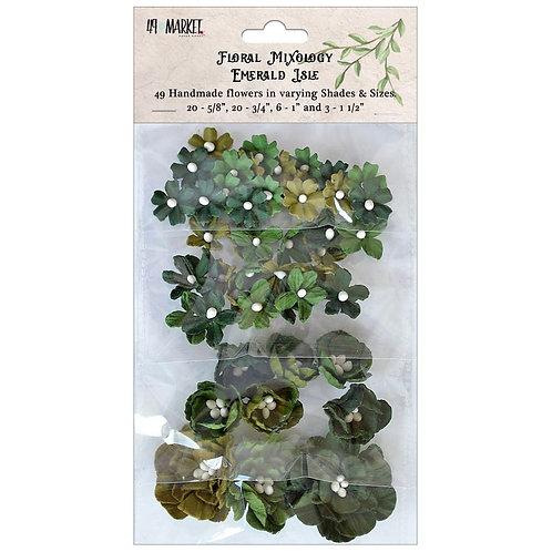 """49 Market Floral Mixology Flowers """"Emerald Isle"""" 49pcs"""