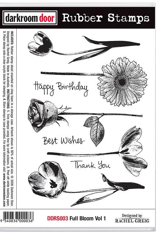 """Darkroom Door - """"Full Bloom Vol 1""""  Cling Rubber Stamp"""