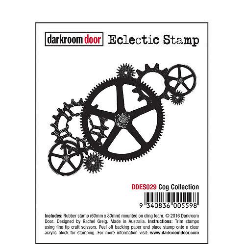 """Darkroom Door - """"Cog Collection"""" Eclectic Rubber Stamp"""