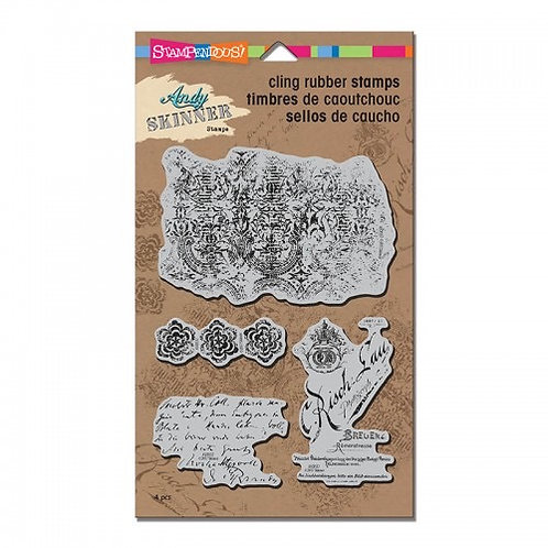 """Stampendous Andy Skinner Cling Stamps """"Textures"""""""