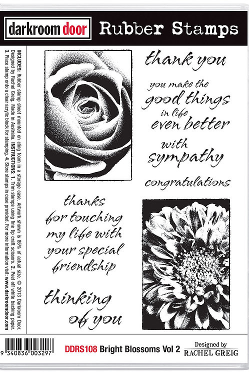 "Darkroom Door - ""Bright Blossoms Vol 2""  Cling Rubber Stamp"