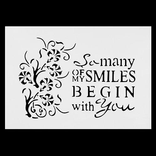A4 Stencil Smiles
