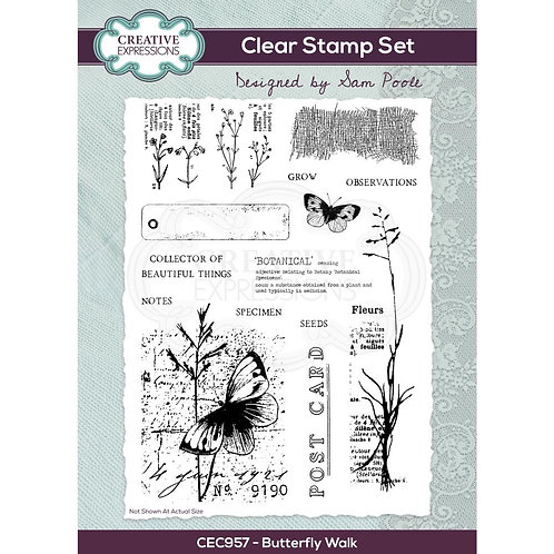 Butterfly Walk Creative Expressions A5 Stamp Set