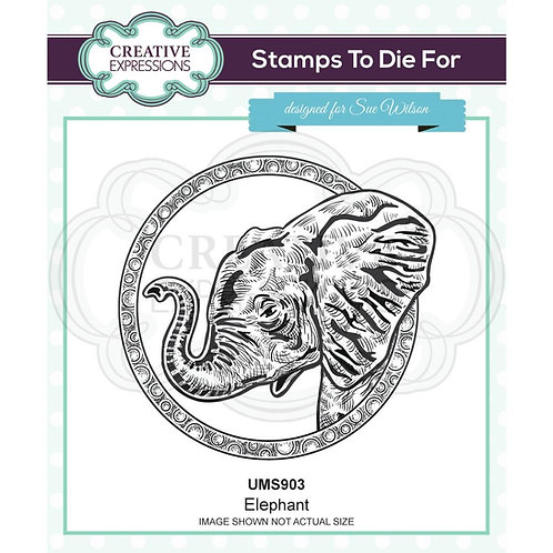 Creative Expressions Rubber Elephant Stamp By Sue Wilson