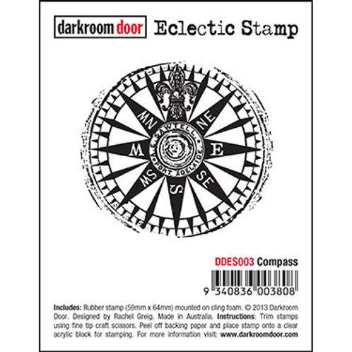 """Darkroom Door - """"Compass"""" Eclectic Rubber Stamp"""