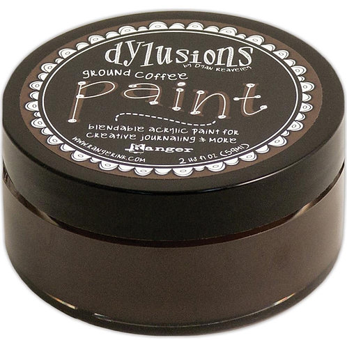 """Dylusions Blendable Acrylic Paint 2oz - """"Ground Coffee"""""""