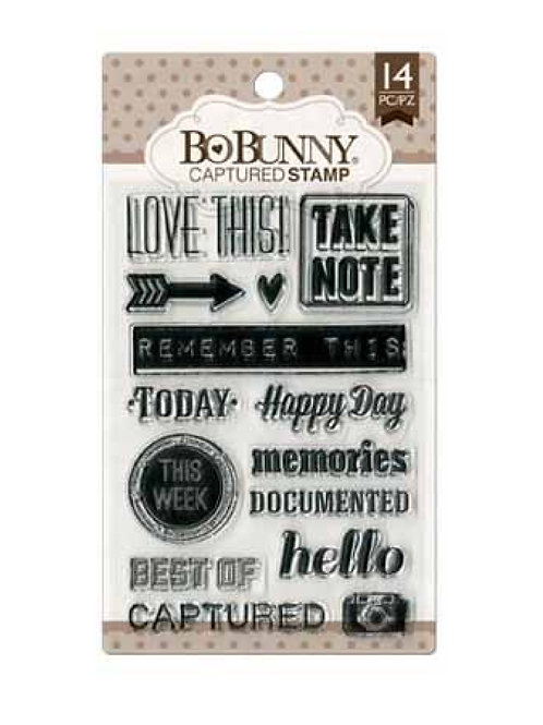 """BoBunny Clear Stamps 4""""X6"""" Captured Stamp"""