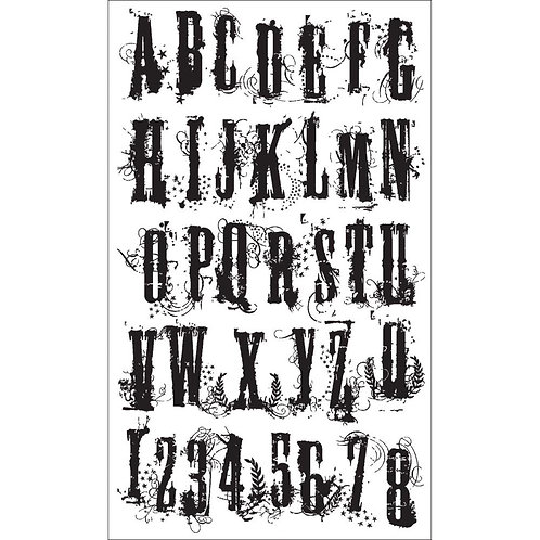 "Tim Holtz Cling Stamps 7""X8.5"" by Stampers Anonymous"