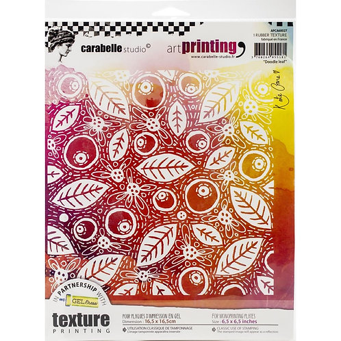 Doodle Leaf Carabelle Studio Art Printing Square Rubber Texture Plate