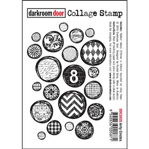 """Darkroom Door - """"Arty Circles"""" Collage Rubber Stamp"""