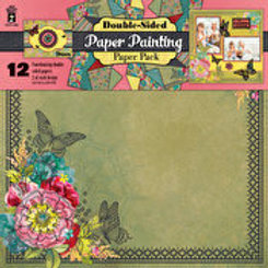 12x12 Bright Floral Scrapbooking & Project Paper 12pc pack