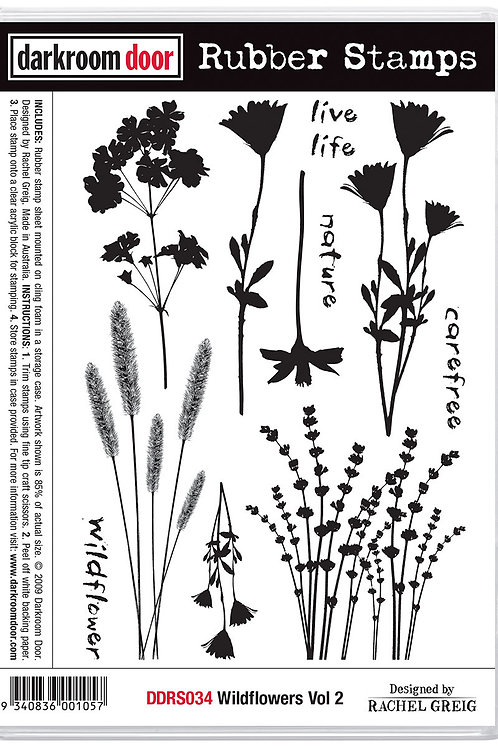 """Darkroom Door - """"Wildflowers Vol 2""""  Cling Rubber Stamp"""