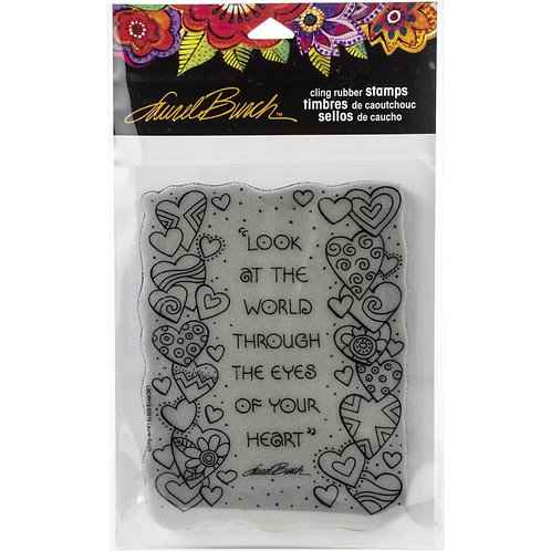 """""""Hearts""""  Stampendous Cling Mount Rubber Stamps"""