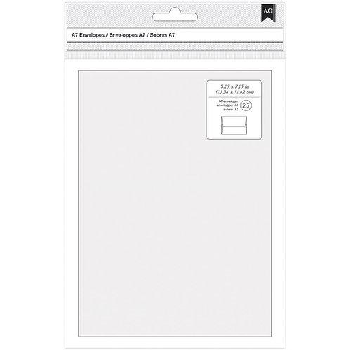 American Crafts-A7 Envelopes: White. 25 pcs