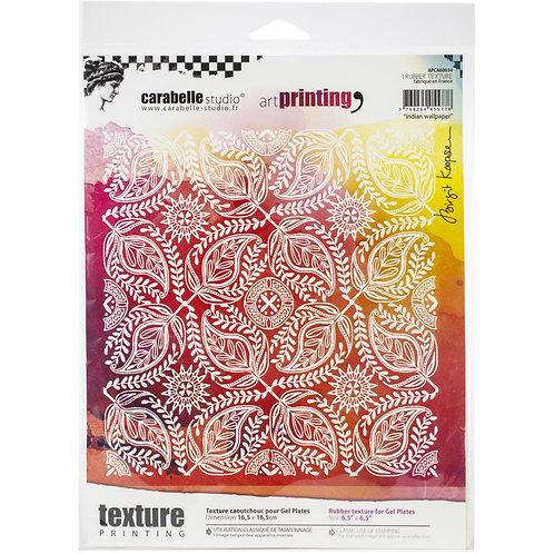 "Carabelle Studio Art Printing Rubber Texture Plate ""Indian Wallpaper"""