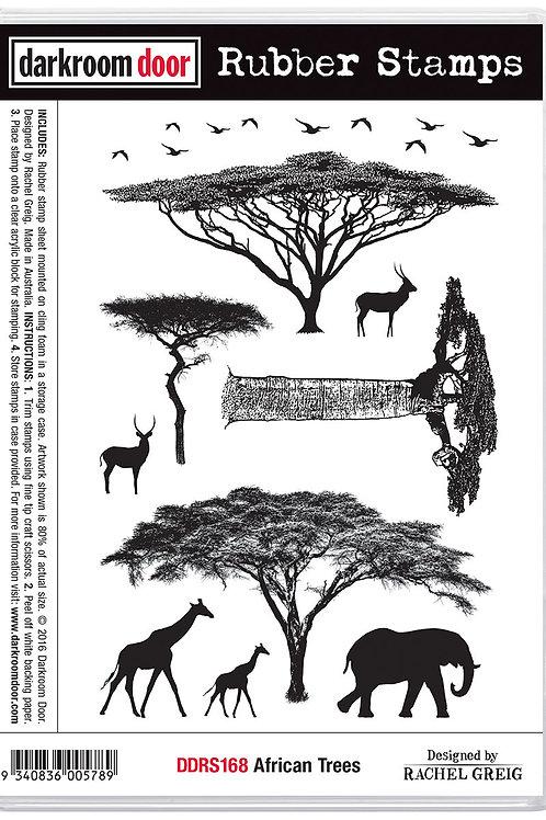 """Darkroom Door - """"African Trees""""  Cling Rubber Stamp"""