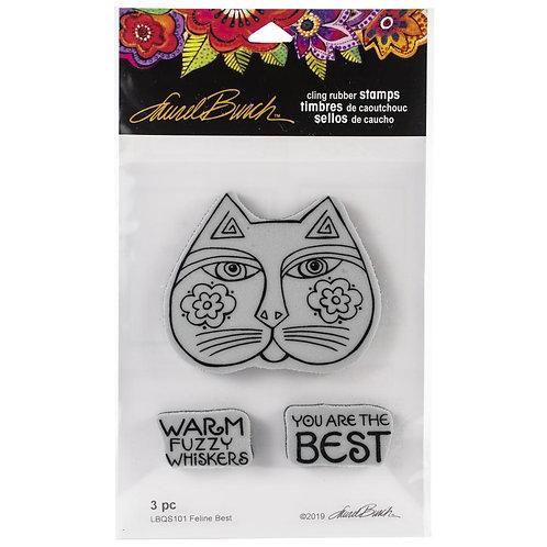 """Feline Best""  Laurel Birch Stampendous Cling Mount Rubber Stamps"