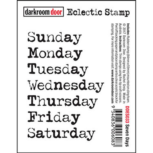 "Darkroom Door - ""Seven Days"" Eclectic Rubber Stamp"