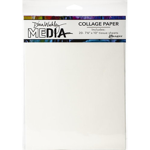 Dina Wakley Mixed Media Collage Tissue Paper 20 Sheets