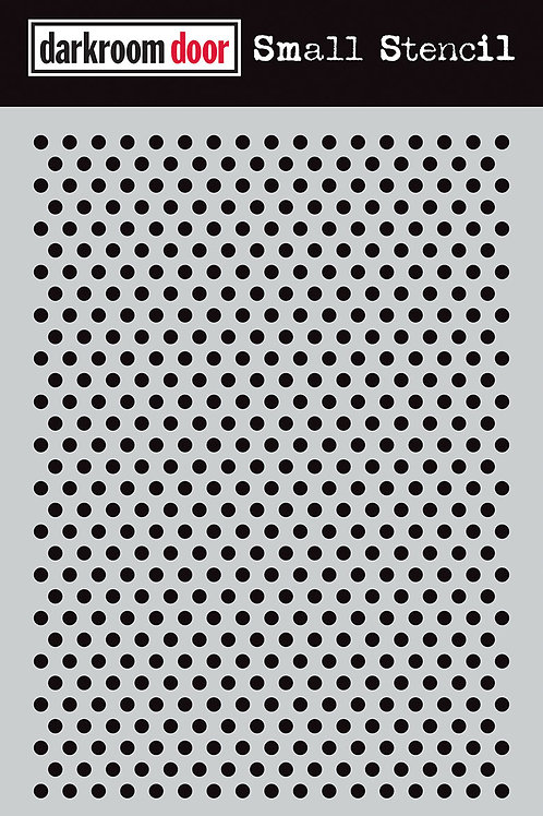 """Darkroom Door Stencil - """"Dots""""   4.5"""" x 6"""""""