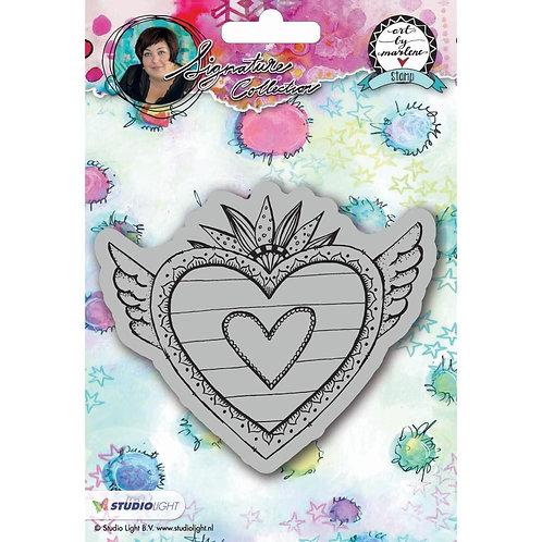 Art By Marlene Heart Cling Stamp