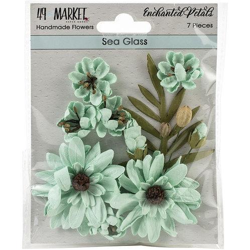"""49 Market Enchanted Petals 7 pcs """"Sea Glass"""""""