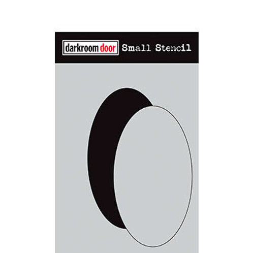 "Darkroom Door Stencil - ""Oval Set""   4.5"" x 6"""