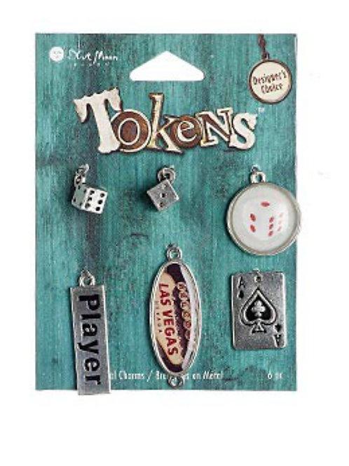 Antique Silver Pewter Charms 6 pcs Las Vegas