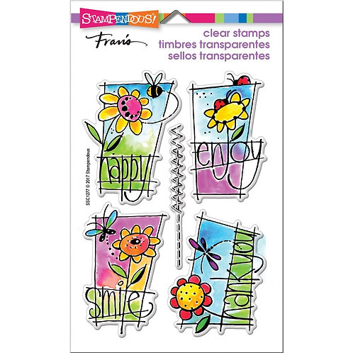 """Window Messages Stampendous Clear Stamps by Laurel Birch 4""""x6"""""""