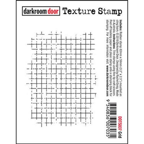 """Darkroom Door - """"Grid"""" Texture Rubber Stamp"""