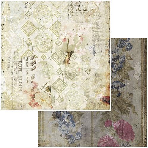 "Vintage Remnants Sky Double-Sided Cardstock 12""X12"" 49 Market"
