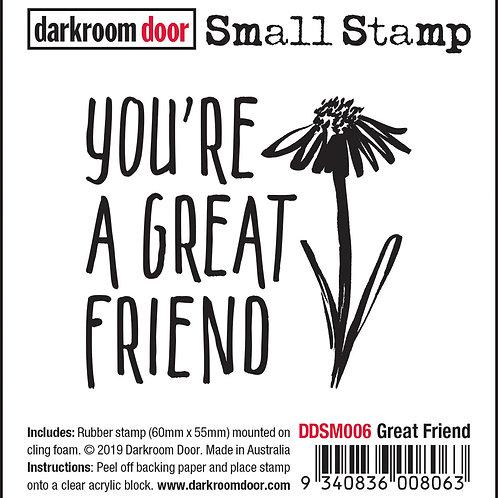 """Darkroom Door Small Stamps - """"Great Friend"""""""