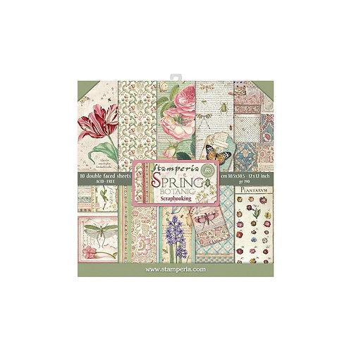 """Stamperia 12"""" x12"""" Paper pack """"Spring Botanic"""""""