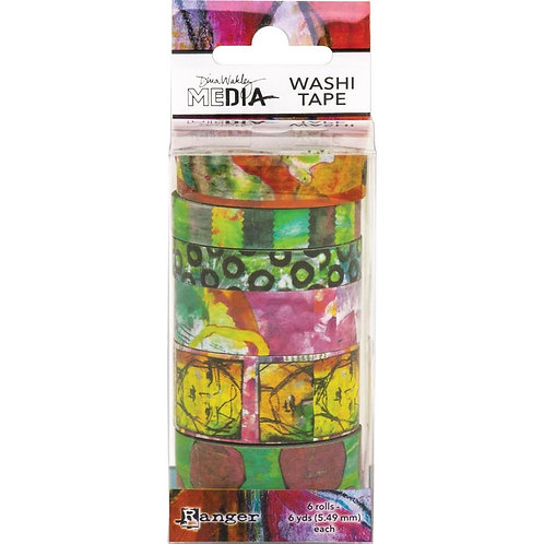 Dina Wakley Media Washi Tape Ass 6 Rolls #4
