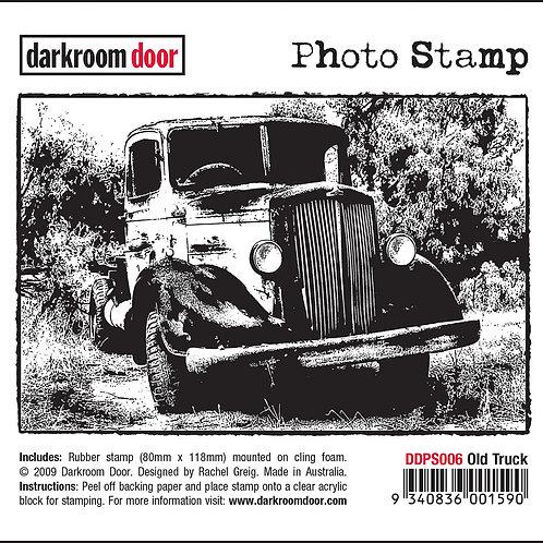 """Darkroom Door - """"Old Truck"""" Photo Rubber Stamp"""