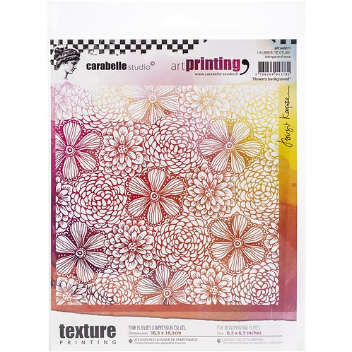 """Carabelle Studio Art Printing Rubber Texture Plate """"Flowery Background"""""""