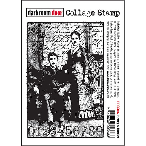 "Darkroom Door Collage Stamp - ""Henry & Harriet"""
