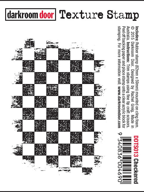 "Darkroom Door - ""Checkered"" Texture Rubber Stamp"