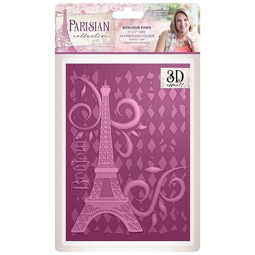 """Parisian Embossing Folder 5""""X7"""""""