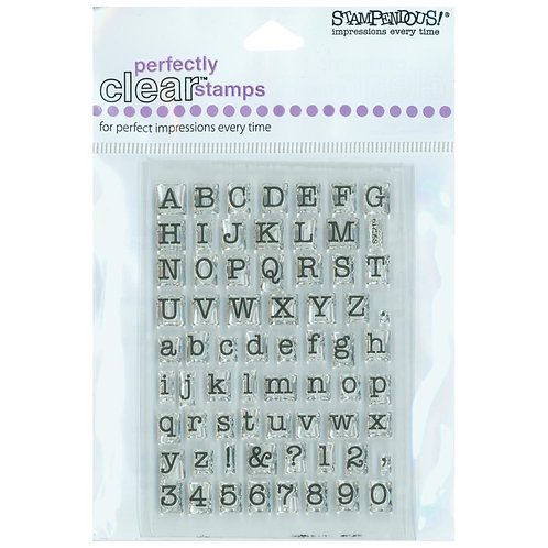 """Stampendous Perfectly Clear Stamps """"Small Typewriter Set"""""""