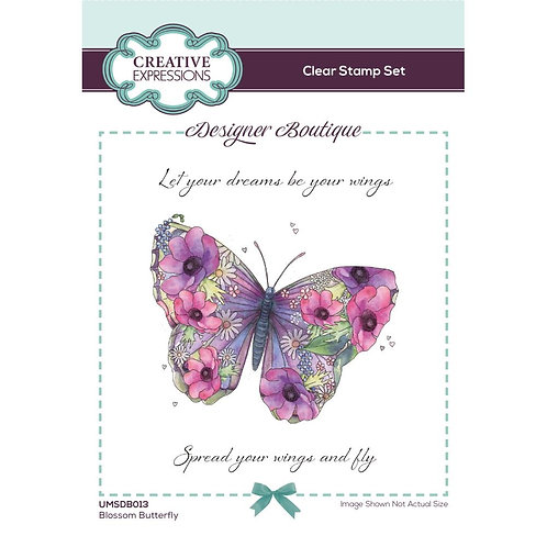 Creative Expressions Blossom Butterfly Stamp A6