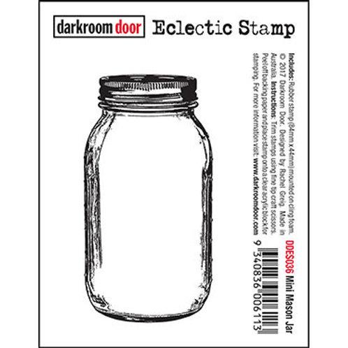 """Darkroom Door - """"Mini Mason Jar"""" Eclectic Rubber Stamp"""