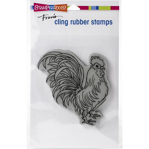 """""""Rooster""""  Stampendous Cling Mount Rubber Stamps"""