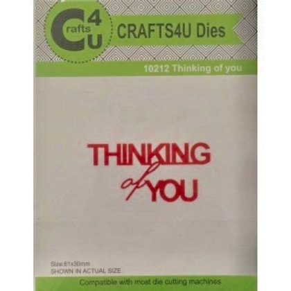 Thinking of You Metal Cutting Die