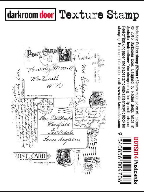 """Darkroom Door - """"Postcards"""" Texture Rubber Stamp"""