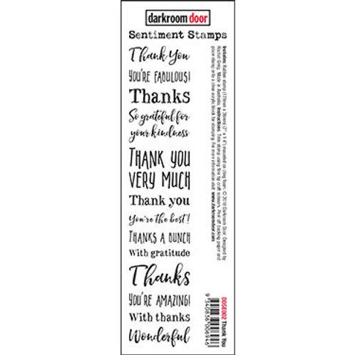 """Darkroom Door - """"Thank You"""" Sentiment Rubber Stamp"""