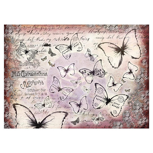 "Flutter Finnabair Mixed Media Tissue Paper 27.5""X19.7"" 6/Pkg"