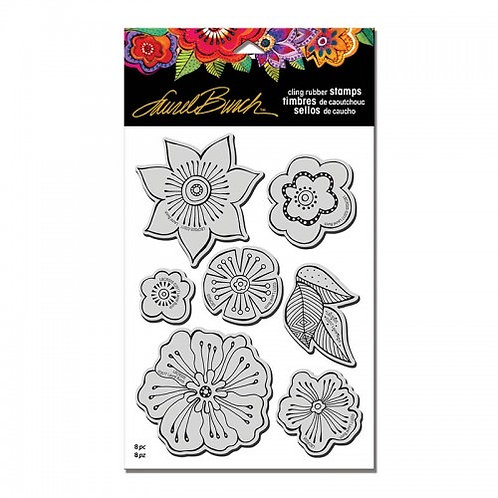 Cling Blossoms Stampendous Cling Mount Rubber Stamps
